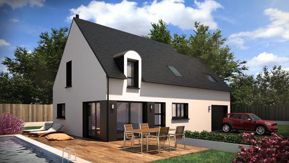 Maison+Terrain à vendre .(110 m²)(DAMGAN) avec (CONSTRUCTIONS DU BELON)
