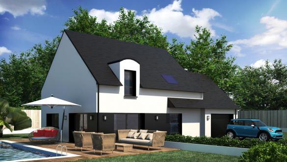 Maison+Terrain à vendre .(85 m²)(DAMGAN) avec (CONSTRUCTIONS DU BELON)
