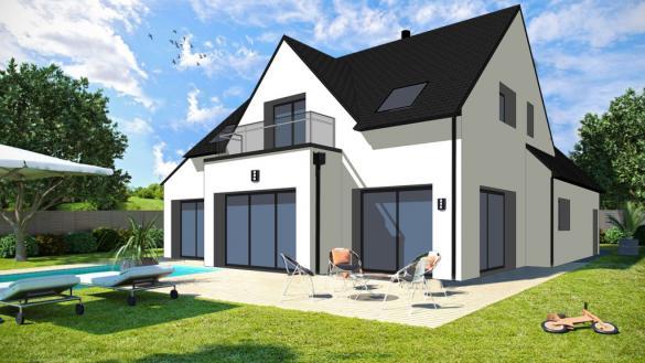 Maison+Terrain à vendre .(127 m²)(AURAY) avec (CONSTRUCTIONS DU BELON)