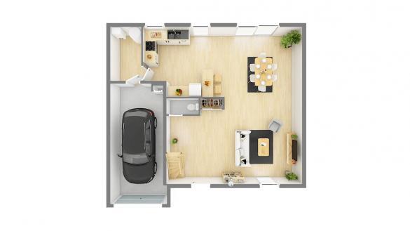 Maison+Terrain à vendre .(115 m²)(SOULTZ SOUS FORETS) avec (Maisons Phénix-67202-WOLFISHEIM)