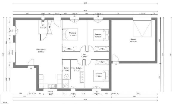 Maison+Terrain à vendre .(120 m²)(MOULEZAN) avec (MAISONS BALENCY)