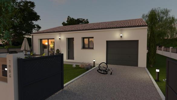 Maison+Terrain à vendre .(85 m²)(MURVIEL LES MONTPELLIER) avec (TRADIBAT CONSTRUCTION)