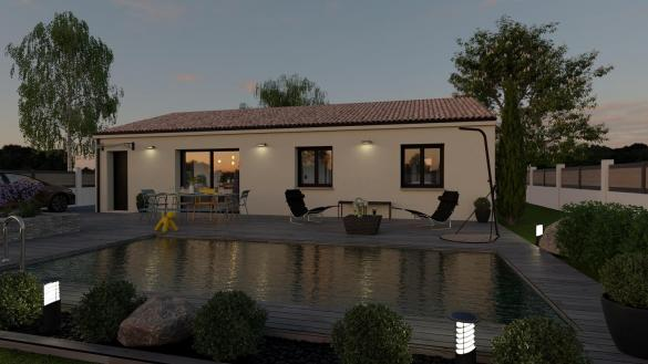 Maison+Terrain à vendre .(84 m²)(SAUSSINES) avec (TRADIBAT CONSTRUCTION)