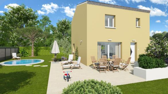 Maison+Terrain à vendre .(81 m²)(CALVISSON) avec (TRADIBAT CONSTRUCTION)