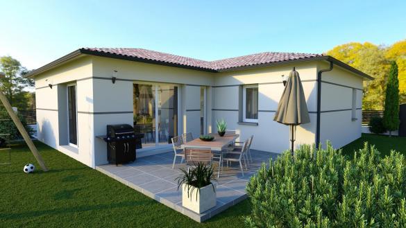 Maison+Terrain à vendre .(85 m²)(NAGES ET SOLORGUES) avec (TRADIBAT CONSTRUCTION)