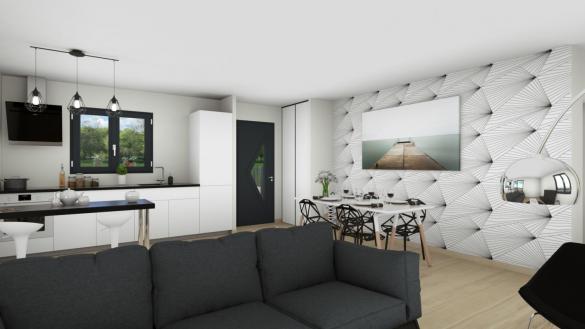 Maison+Terrain à vendre .(85 m²)(MONTAGNAC) avec (TRADIBAT CONSTRUCTION)