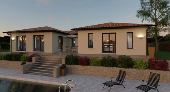 Maison+Terrain à vendre .(115 m²)(JUVIGNAC) avec (TRADIBAT CONSTRUCTION)