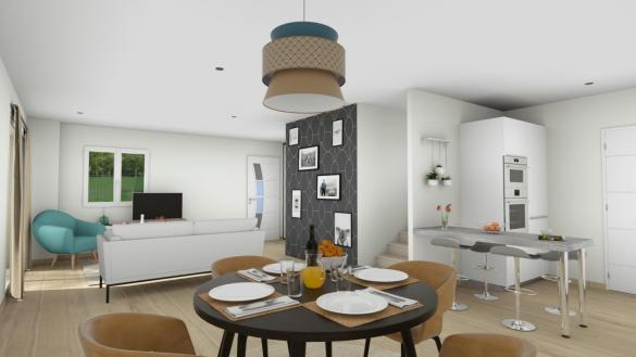 Maison+Terrain à vendre .(91 m²)(BEAUVOISIN) avec (TRADIBAT CONSTRUCTION)