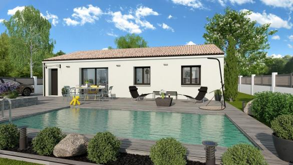 Maison+Terrain à vendre .(99 m²)(GAJAN) avec (TRADIBAT CONSTRUCTION)