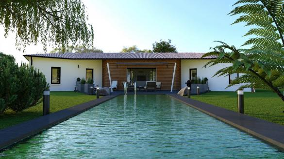 Maison+Terrain à vendre .(139 m²)(SAINTE ANASTASIE) avec (TRADIBAT CONSTRUCTION)