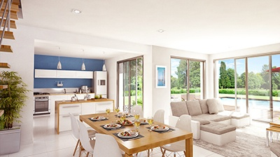 Maison+Terrain à vendre .(110 m²)(BOURG EN BRESSE) avec (Maison Familiale Decines Charpieu)