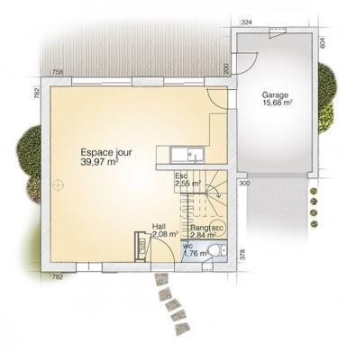 Maison+Terrain à vendre .(95 m²)(TERRATS) avec (MAISONS BALENCY)