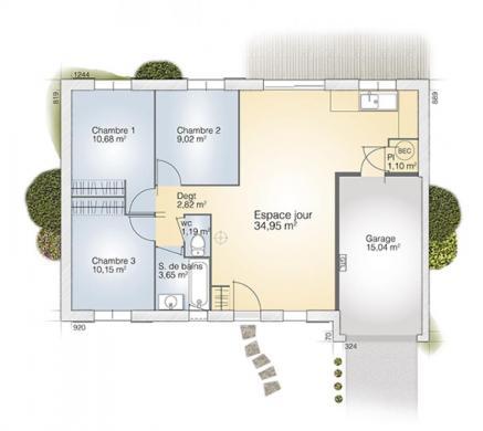 Maison+Terrain à vendre .(73 m²)(THUIR) avec (MAISONS BALENCY)