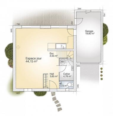 Maison+Terrain à vendre .(110 m²)(BAIXAS) avec (MAISONS BALENCY)