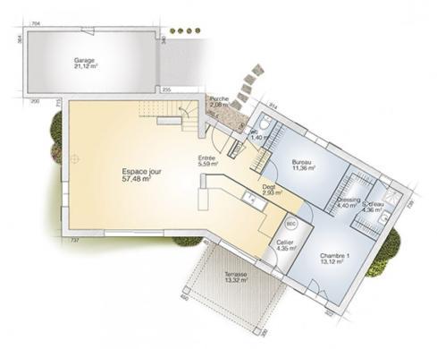 Maison+Terrain à vendre .(145 m²)(ESTAGEL) avec (MAISONS BALENCY)