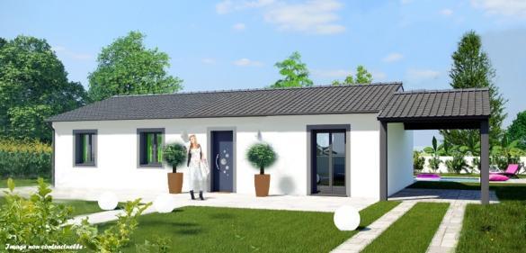 Maison à vendre .(90 m²)(CHALAIN D'UZORE) avec (MAISON COBATI)