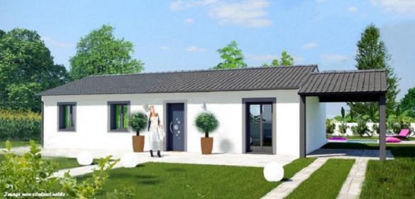 Maison+Terrain à vendre .(85 m²)(CHALAIN D'UZORE) avec (MAISON COBATI)