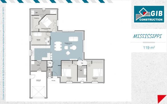 Maison+Terrain à vendre .(119 m²)(CREON) avec (GIB CONSTRUCTION)