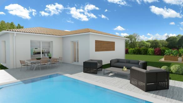 Maison+Terrain à vendre .(90 m²)(SAINT SELVE) avec (GIB CONSTRUCTION)