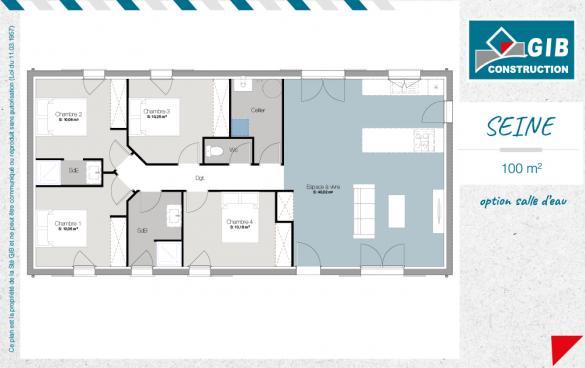 Maison+Terrain à vendre .(100 m²)(PISSOS) avec (GIB CONSTRUCTION)