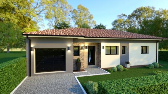Maison+Terrain à vendre .(100 m²)(LEOGNAN) avec (GIB CONSTRUCTION)