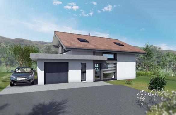 Maison+Terrain à vendre .(135 m²)(VALLEIRY) avec (EDEN HOME)