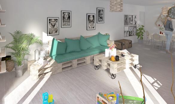 Maison+Terrain à vendre .(96 m²)(NIMES) avec (PYRAMIDE CONSTRUCTION)