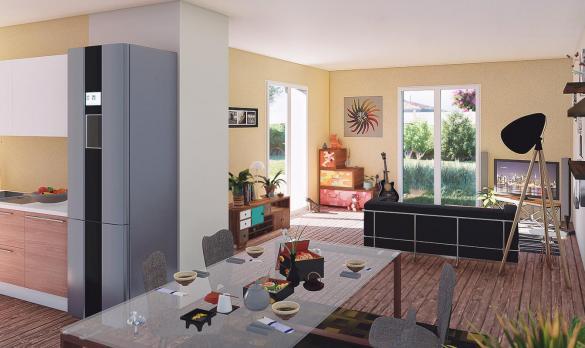 Maison+Terrain à vendre .(96 m²)(TEYRAN) avec (PYRAMIDE CONSTRUCTION)