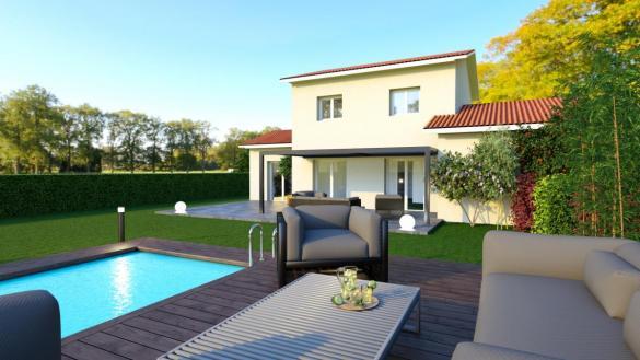Maison à vendre .(101 m²)(LEYMENT) avec (TRADICONFORT 69)