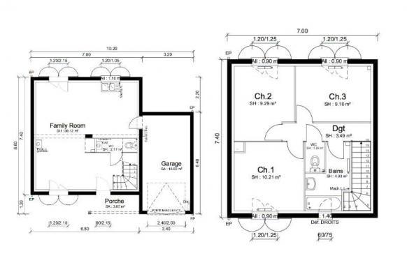 Maison+Terrain à vendre .(79 m²)(PONT DE VEYLE) avec (MAISONS PUNCH)