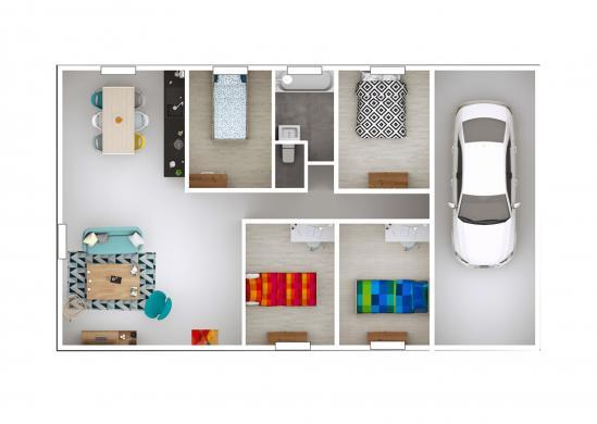 Maison+Terrain à vendre .(101 m²)(ROMENAY) avec (MAISONS PUNCH)