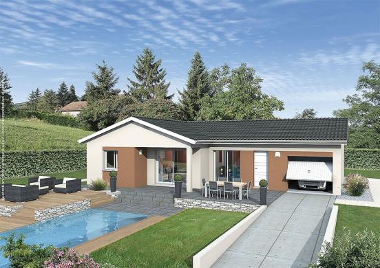 Maison+Terrain à vendre .(110 m²)(SAINT ETIENNE LE MOLARD) avec (MAISONS PUNCH)