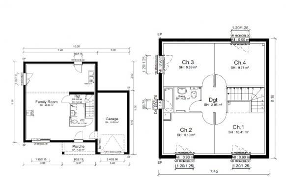 Maison+Terrain à vendre .(93 m²)(LORETTE) avec (MAISONS PUNCH)