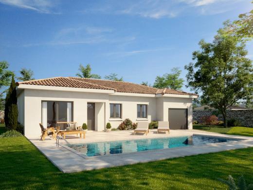 Maison+Terrain à vendre .(95 m²)(PONCINS) avec (MAISONS PUNCH)