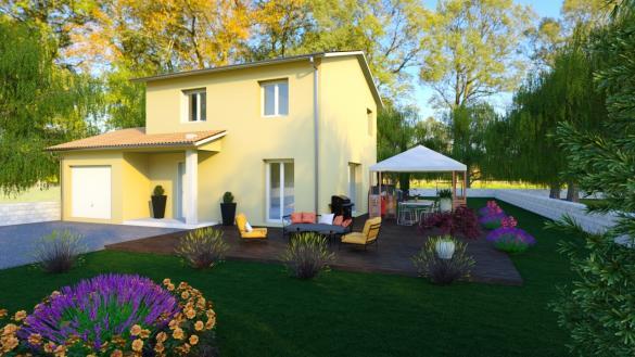Maison+Terrain à vendre .(88 m²)(CREMIEU) avec (MAISONS PUNCH)