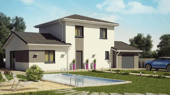Maison+Terrain à vendre .(96 m²)(GEOVREISSIAT) avec (DEMEURES CALADOISES)