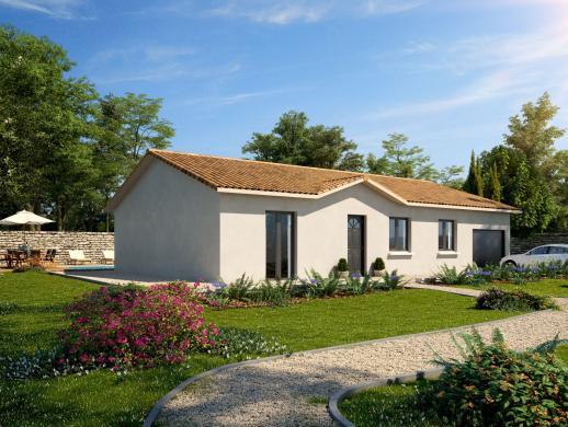 Maison+Terrain à vendre .(92 m²)(SAINT ANDRE LE GAZ) avec (MAISONS PUNCH LA TOUR DU PIN)