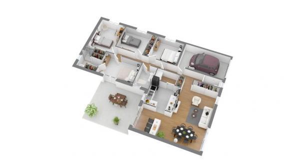 Maison+Terrain à vendre .(110 m²)(MONTARNAUD) avec (MAISONS FRANCE CONFORT)