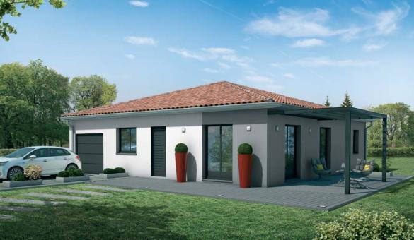 Maison+Terrain à vendre .(108 m²)(FABAS) avec (VILLAS ET MAISONS DE FRANCE)