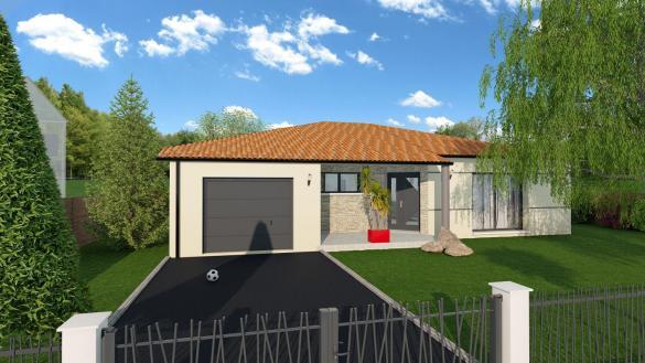 Maison+Terrain à vendre .(88 m²)(RENNEVILLE) avec (VILLAS ET MAISONS DE FRANCE)