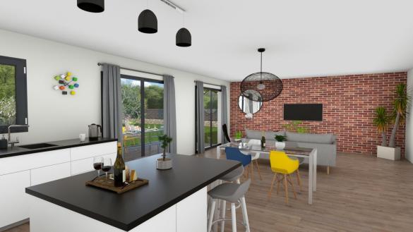 Maison+Terrain à vendre .(110 m²)(FONTENILLES) avec (VILLAS ET MAISONS DE FRANCE)