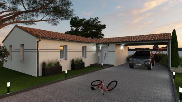 Maison+Terrain à vendre .(88 m²)(VILLENOUVELLE) avec (VILLAS ET MAISONS DE FRANCE)