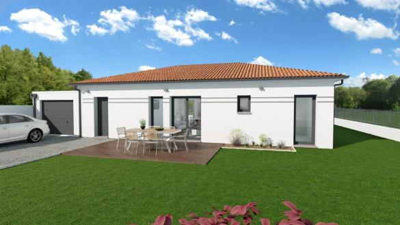 Maison+Terrain à vendre .(107 m²)(L'ISLE JOURDAIN) avec (VILLAS ET MAISONS DE FRANCE)