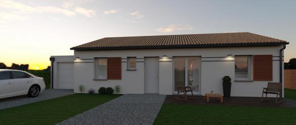Maison+Terrain à vendre .(96 m²)(NAILLOUX) avec (VILLAS ET MAISONS DE FRANCE)