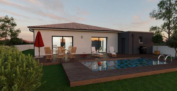 Maison+Terrain à vendre .(89 m²)(LABASTIDE SAINT SERNIN) avec (VILLAS ET MAISONS DE FRANCE)