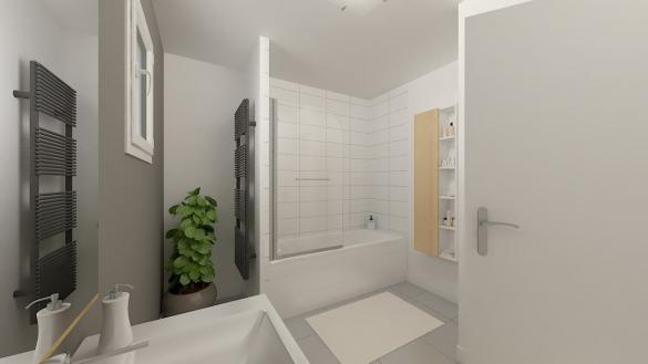 Maison+Terrain à vendre .(97 m²)(OBERSAASHEIM) avec (Maisons Phénix-68270-WITTENHEIM)