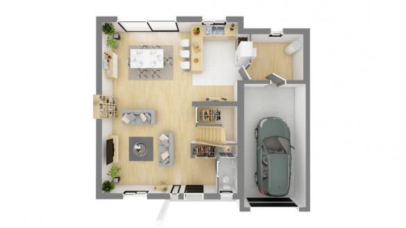 Maison+Terrain à vendre .(108 m²)(FELINES) avec (Maison Familiale St Marcel les Valence)