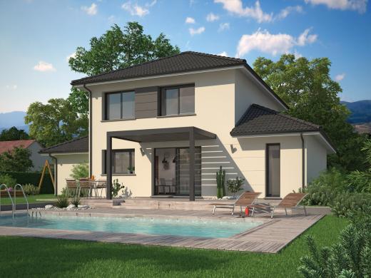 Maison+Terrain à vendre .(95 m²)(SAINT ETIENNE DE SAINT GEOIRS) avec (Maisons familiales Échirolles)