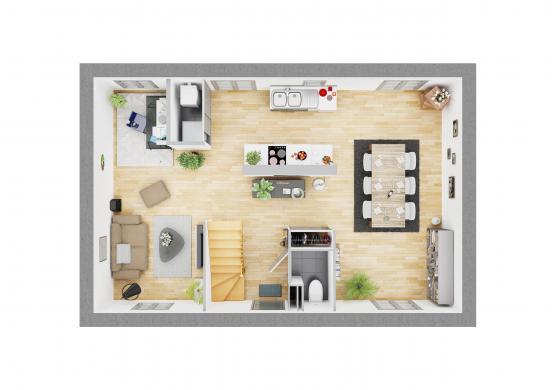 Maison+Terrain à vendre .(92 m²)(VERBERIE) avec (MAISON CASTOR)