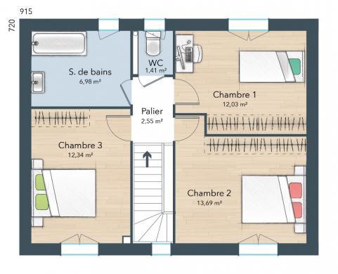 Maison+Terrain à vendre .(100 m²)(SAINT QUENTIN SUR LE HOMME) avec (MAISONS FRANCE CONFORT)